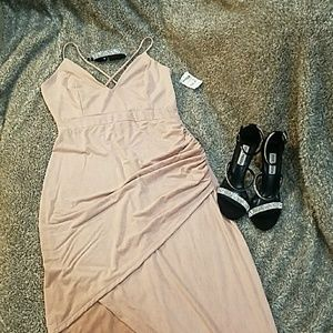 Charlette Russe Blush Spaghetti Strap Dress